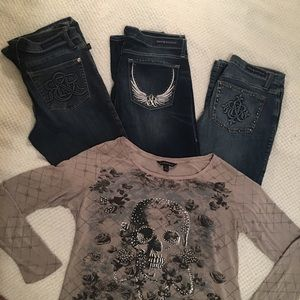 Rock and Republic Women's Jeans and Shirt Bundle